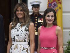 Letizia y Melania Trump: duelo de estilo en la Casa Blanca