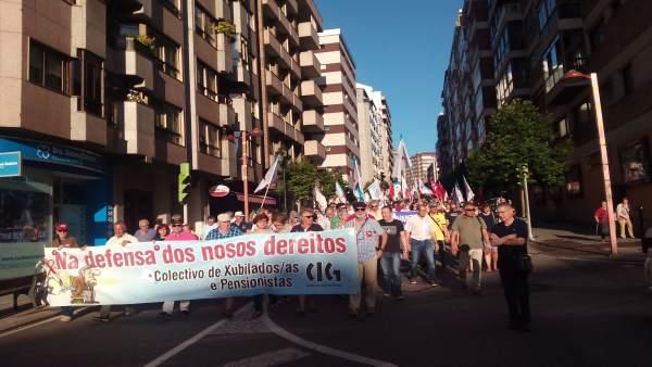 Manifestación de la CIG en Vigo