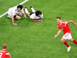 Gol de Cheryshev a Egipto