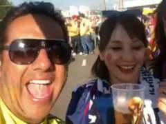 Escándalo en Colombia por un vídeo de un hincha que denigra a una aficionada japonesa