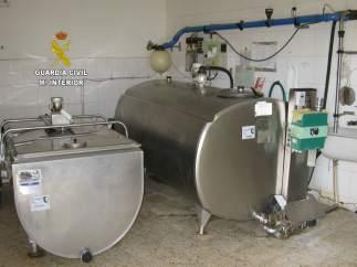 Tanques de frío para la leche.