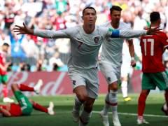 Cristiano Ronaldo sostiene a Portugal ante Marruecos (1-0)