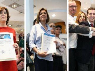 Candidatos al PP entregan sus avales