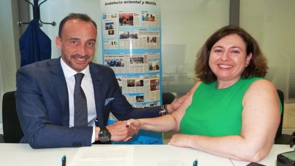 Firma del convenio sobre el proyecto 'Fejidif autonomía personal'.