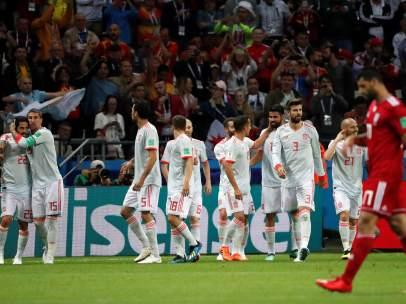Gol de España a Irán