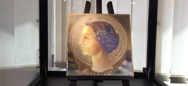 La primera obra pictórica de Leonardo Da Vinci, el retrato del Arcángel Gabriel.