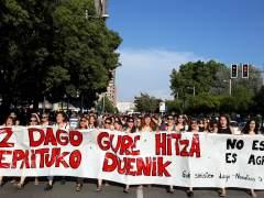 Manifestación en Pamplona contra la libertad provisional de La Manada.