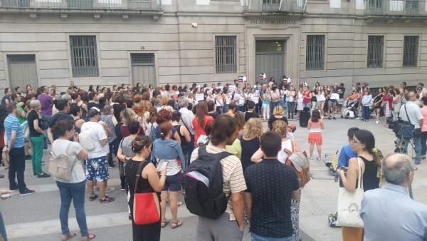 Concentración contra la libertad para 'La Manada' en Pontevedra
