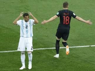 Gol de Croacia a Argentina