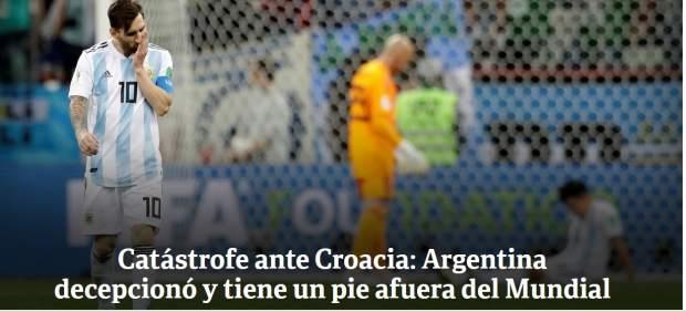 Duras críticas de la prensa argentina: