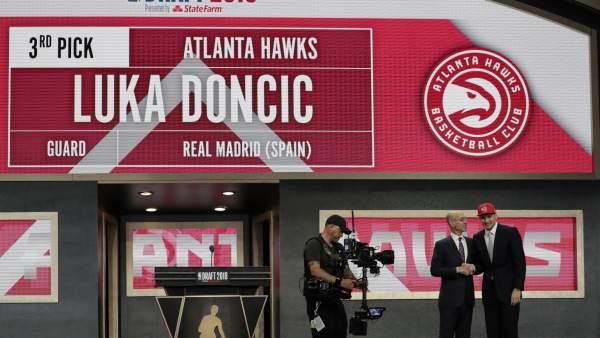 Doncic, elegido con el número tres del draft