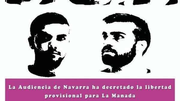 Cartel concentración contra La Manada