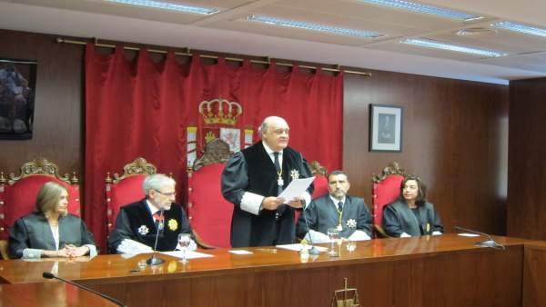 El presidente del Tribunal Superior de Justicia de Navarra, Joaquín Galve