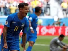 Dos goles en el descuento de Coutinho y Neymar salvan a Brasil