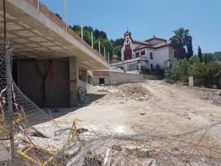 Obras de construcción del edificio multiusos de Jamilena.