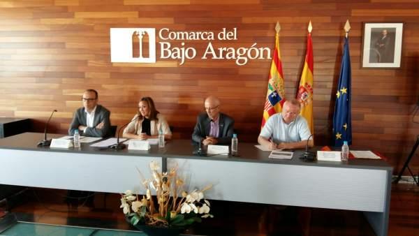 Mayte Pérez en Comraca Bajao Aragón. Alcañiz