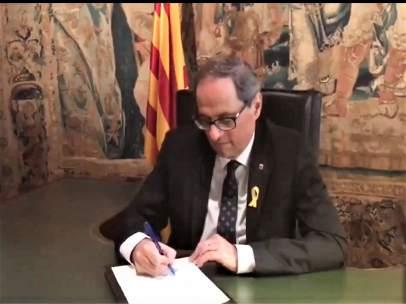 El pte.Quim Torra firma su renuncia como vicepresidente de honor de la FPdGi