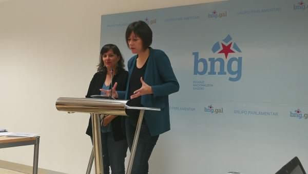 Ana Miranda y Ana Pontón (BNG) en rueda de prensa