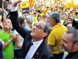 Pte.Quim Torra en una concentración de ANC al abrirse los Juegos Mediterráneos