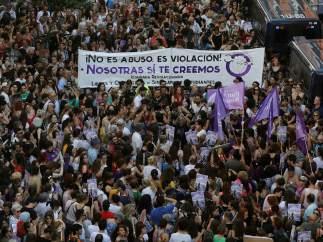 Protesta contra la libertad de La Manada