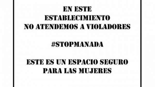 Cartel contra La Manada