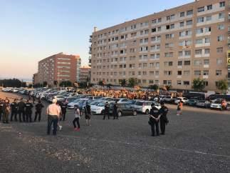 Protesta contra la presencia del Rey en los Juegos de Tarragona