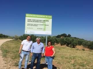 Visita a la construcción de un punto de acopio de residuos en Génave