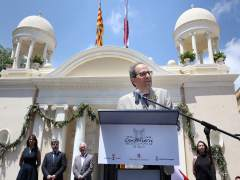 El presidente de la Generalitat, Quim Torra, en Valls (Tarragona)