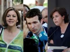 Cospedal, Casado y Santamaría arrancan en Barcelona, A Coruña y Málaga la campaña para liderar el PP