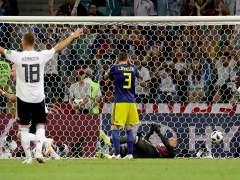 Un gol de Kroos en el 95 da la remontada a Alemania ante Suecia