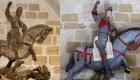 Un San Jorge convertido en un muñeco
