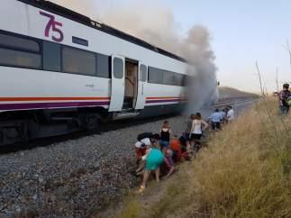 Incendio en un tren
