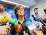 La candidata a la presidencia del PP, Saenz de Santamaría