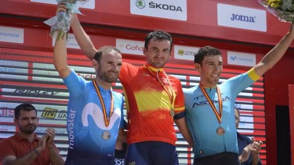 Gorka Izagirre Alejandro Valverde Omar Fraile Campeonato España