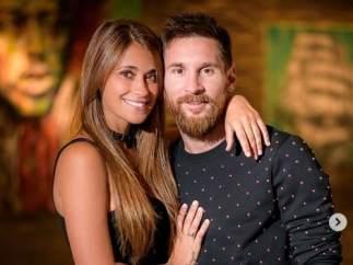 Messi y Antonela