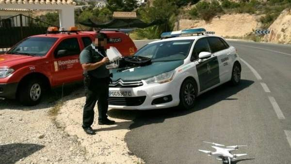 El dron utilizado