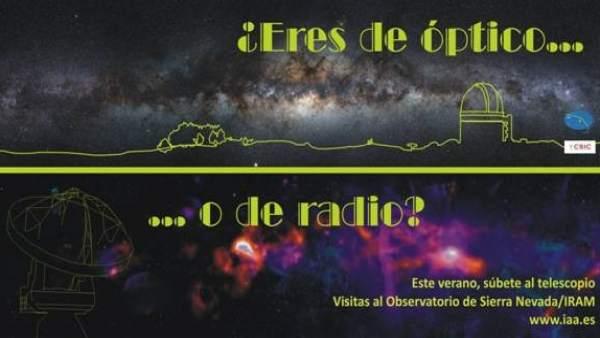 Visitas al Observatorio de Sierra Nevada en el verano de 2018