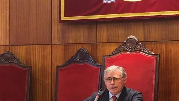 El presidente del TSJA Ignacio Vidau