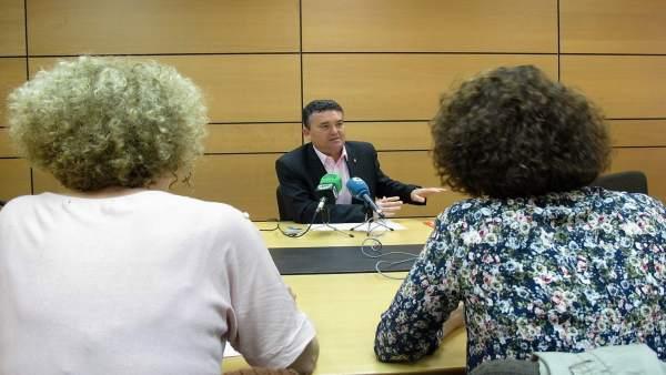 Rueda de prensa Enrique Ayuso (PSOE Murcia)