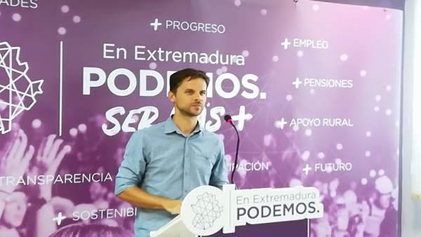 ÞÁlvaro Jaén en la rueda de prensa de este lunes en Mérida