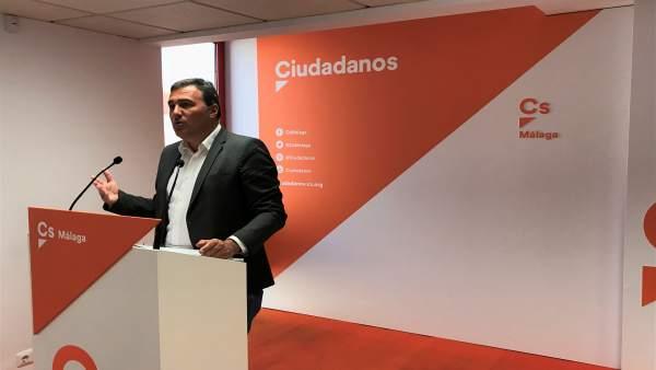 Carlos Hernández White parlamentario andaluz por málaga Ciudadanos Cs