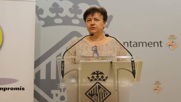 Susanna Moll en rueda de prensa en Cort