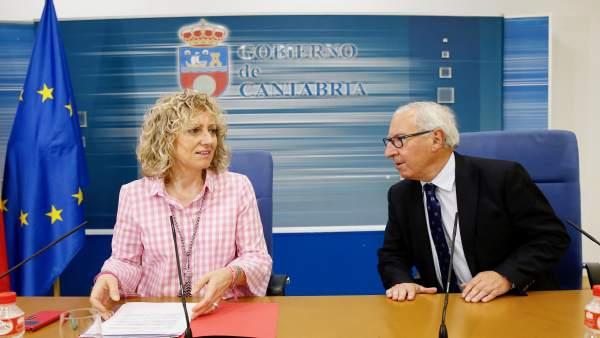 Díaz Tezanos y Palacio en rueda de prensa