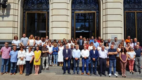 Concentración ante la Diputación Provincial de Zaragoza