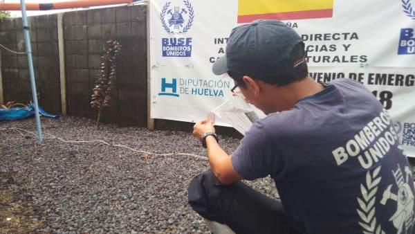 Labores de potabilización en Guatemala.