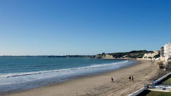 Playa de Fuentebravía en El Puerto