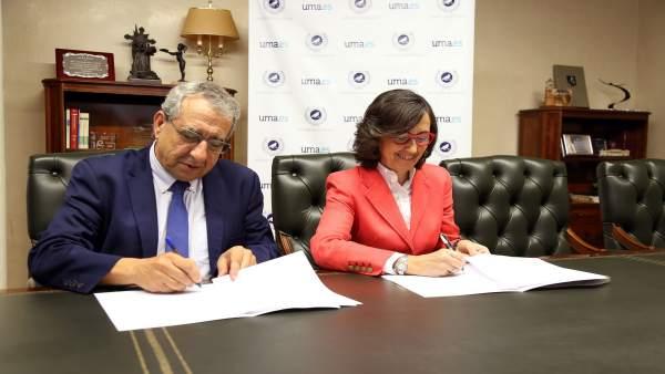 El rector de la UMA y la consejera de Justicia firman un convenio