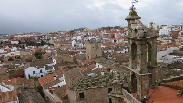 Vista aérea de la ciudad de Cáceres