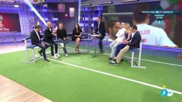 El programa 'Ahora, la Mundial' de Telecinco.