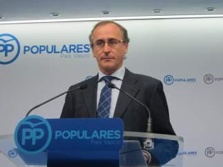 Foto de archivo de Alfonso Alonso, presidente del PP vasco